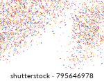 colorful explosion of confetti. ... | Shutterstock .eps vector #795646978