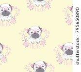 character design pattern... | Shutterstock .eps vector #795650890