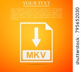 mkv file document icon....