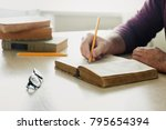 student is studying the given... | Shutterstock . vector #795654394