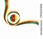 cameroon flag wavy abstract...   Shutterstock .eps vector #795654508