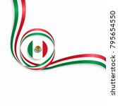 mexican flag wavy abstract... | Shutterstock .eps vector #795654550