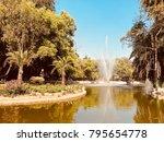 beautiful fountain lake of... | Shutterstock . vector #795654778