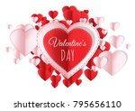 valentines day design with... | Shutterstock . vector #795656110