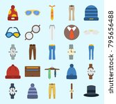 icons set about man accessories.... | Shutterstock .eps vector #795656488