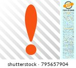 exclamation icon with 7 hundred ... | Shutterstock .eps vector #795657904