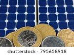 solar panel with brazilian...   Shutterstock . vector #795658918