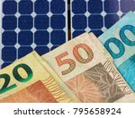 solar panel with varied values...   Shutterstock . vector #795658924