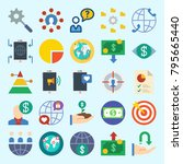 icons set about marketing. with ...   Shutterstock .eps vector #795665440