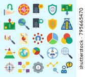 icons set about marketing. with ... | Shutterstock .eps vector #795665470