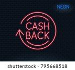 neon light. cashback service... | Shutterstock .eps vector #795668518