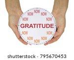 cultivate a gratitude attitude... | Shutterstock . vector #795670453