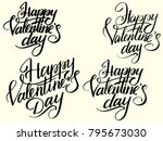 set happy valentines day... | Shutterstock . vector #795673030