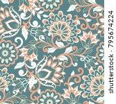 floral vector illustration in...   Shutterstock .eps vector #795674224