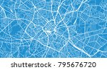 urban vector city map of... | Shutterstock .eps vector #795676720