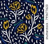 seamless pattern vector... | Shutterstock .eps vector #795677623
