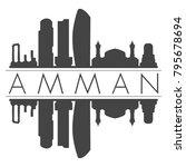 amman jordan asia skyline... | Shutterstock .eps vector #795678694