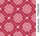 red and pale pink geometric... | Shutterstock .eps vector #795681358