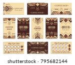 visit card design set with... | Shutterstock .eps vector #795682144