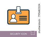 id badge line icon....