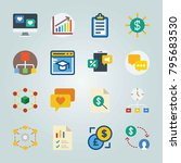 icon set about marketing. with... | Shutterstock .eps vector #795683530