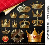 golden royal design element | Shutterstock . vector #79568503