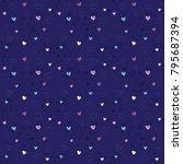 abstract heart seamless pattern ...   Shutterstock .eps vector #795687394
