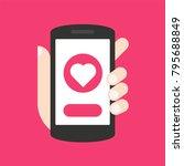 sending love message concept. ...