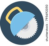 circular saw colored... | Shutterstock .eps vector #795692050