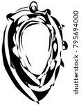 black and white vector sketch... | Shutterstock .eps vector #795694000