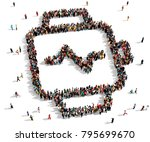 large and diverse group of... | Shutterstock . vector #795699670