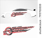 vinyls   decals for car modif... | Shutterstock .eps vector #795703333
