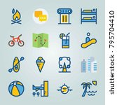 icon set about travel. with... | Shutterstock .eps vector #795704410