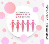 international women's day with... | Shutterstock .eps vector #795704653