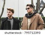 milan  italy   january 15 ... | Shutterstock . vector #795712393