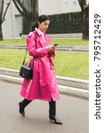milan  italy   january 15 ... | Shutterstock . vector #795712429