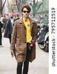 milan  italy   january 15 ... | Shutterstock . vector #795712519