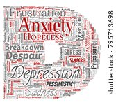 vector conceptual depression or ...   Shutterstock .eps vector #795713698