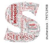 vector conceptual mental stress ... | Shutterstock .eps vector #795713908