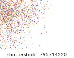 colorful explosion of confetti. ... | Shutterstock .eps vector #795714220