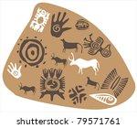 stones rock paintings of...