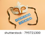 venetian souvenir mask | Shutterstock . vector #795721300