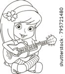 coloring page outline of... | Shutterstock .eps vector #795721480