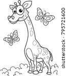 coloring page outline of... | Shutterstock .eps vector #795721600