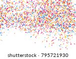 colorful explosion of confetti. ... | Shutterstock .eps vector #795721930