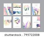 set of creative universal... | Shutterstock . vector #795722008