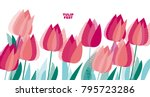 abstract modern vivid floral... | Shutterstock .eps vector #795723286
