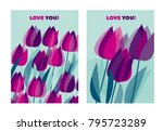 abstract modern vivid floral... | Shutterstock .eps vector #795723289