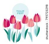 abstract modern vivid floral...   Shutterstock .eps vector #795723298