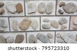 a magnificent wall of stone | Shutterstock . vector #795723310